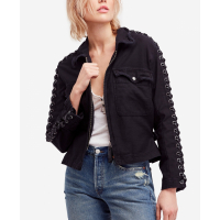 Free People Women's 'Faye Military Lace-Up' Jacket