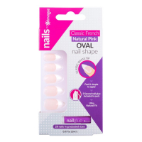 Invogue Women's 'French Pink' Oval False Nails