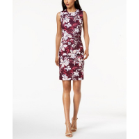 Calvin Klein Women's 'Floral-Print Scuba Sheath' Dress