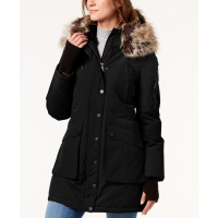 BCBGeneration Women's 'Faux-Fur-Trim Hooded' Parka