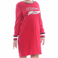 Tommy Hilfiger Women's 'Striped-Hem Sweatshirt' Dress