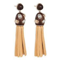 Swarovski 'Wood Tassell' Earrings