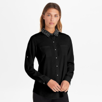 Karl Lagerfeld Women's 'Pearl Collar Button Down' Blouse