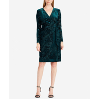 Ralph Lauren Women's 'Flocked velvet wrap' Dress