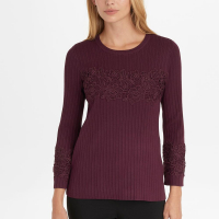 Karl Lagerfeld 'Ribbed Lace' Pullover für Damen
