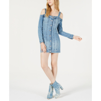 Guess 'Cold-shoulder denim bodycon' Kleid für Damen