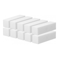 Tools For Beauty 4-sided nail block 10 units - White