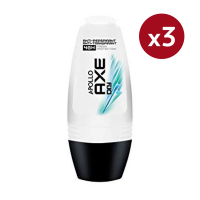 Axe Déodorant Roll On 'Apollo Dry' - 50 ml - pack de 3