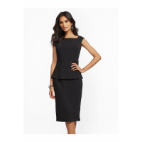 New York & Company 'Button-Accent Peplum Sheath' Kleid für Damen