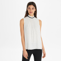Karl Lagerfeld Blouse 'Printed High Neck Short Sleeve' pour femmes