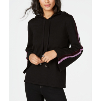 INC International Concepts I.N.C. Women's 'Velvet Varsity-Stripe' Hoodie