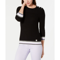 Tommy Hilfiger Pull 'Cotton Tipped Cable-Knit' pour Femmes