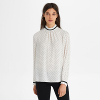 Karl Lagerfeld Blouse 'Long Sleeve Printed High Neck' pour femmes