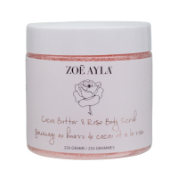 Zoë Ayla 'Cocoa Butter & Rose' Body scrub - 226 g