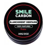 Smile Carbon Bleaching charcoal powder - Fraise 30 g