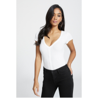 G by Guess Women's 'Brittany Button Rib-Knit' Top