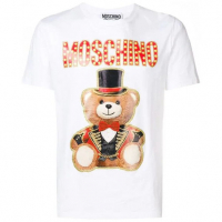 Moschino T-shirt 'Teddy Logo' pour hommes