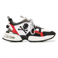 Philipp Plein Men's 'Colour-block skull' Sneakers