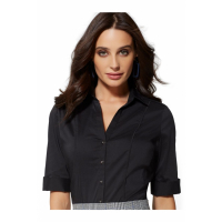 New York & Company '7th Avenue - Piped Madison Stretch - Black' Hemd für Damen