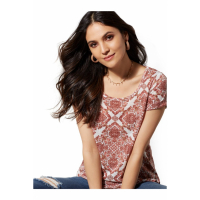 New York & Company 'Print Scoopneck Knit' T-Shirt für Damen
