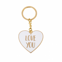 Sass and Belle 'Love You Gold Metallic Heart' Porte-clés