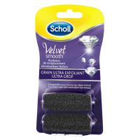 Scholl 'Velvet Smooth' Replacement Roller - 2 Units