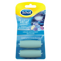 Scholl 'Velvet Smooth' Recharges graines exfoliants - 2 Unités