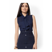New York & Company 'Sleeveless Bow-Accent' Bluse für Damen