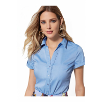 New York & Company 'Short-Sleeve Madison Stretch' Hemd für Damen