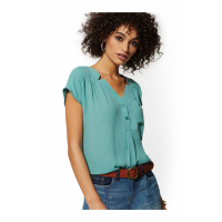 New York & Company 'Split-Neck - Soho Soft' Bluse für Damen