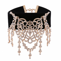 Liv Oliver Collier '18K Gold And Crystal Statement Choker'
