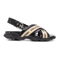 Stella McCartney 'Cross Strap Logo' Sandalen für Damen