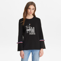 Karl Lagerfeld Women's 'Bell sleeve paris' Sweater