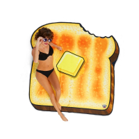 Big Mouth 'Buttered Toast' Beach blanket - 1 Unit