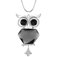 Unlimited Luxury Creation Collier 'Nightbird Of Crystal Silver'
