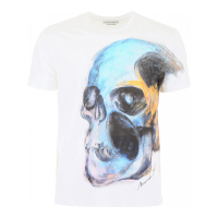 Alexander McQueen Men's 'Painted skull' T-Shirt