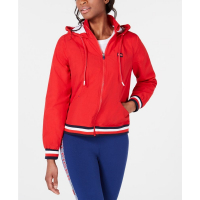 Tommy Hilfiger Women's 'Striped-Trim Hooded' Jacket