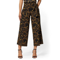 New York & Company 'Black Link Print Madie Crop 7th Avenue' Hose für Damen