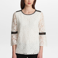 Karl Lagerfeld 'Lace with bell sleeves' Top für Damen