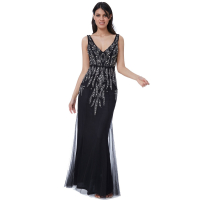 City Goddess Women's 'Pearl Embellished Open Back Maxi' Dress