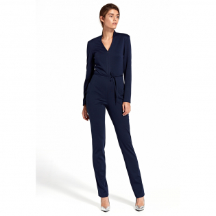 Women's '3/4 Sleeve & V-neck' Jumpsuit