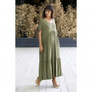 Women's 'V-Neck' Long Dress
