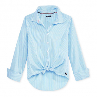 Big Girl's 'Striped Button-Front' Shirt