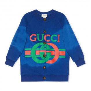Girl's 'Logo' Cardigan