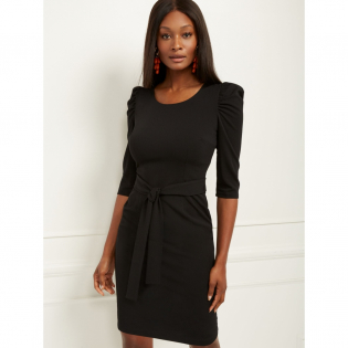 Women's 'Puff Sleeve Belted' Dress