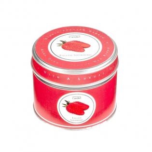 English Strawberry 'Signature' Tin Candle 32H