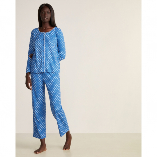 Women's 'Printed Long Sleeve Top & Pants Pajama Set' 2 Pieces Set