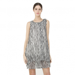 Women's 'Zebra' Sleeveless Dress