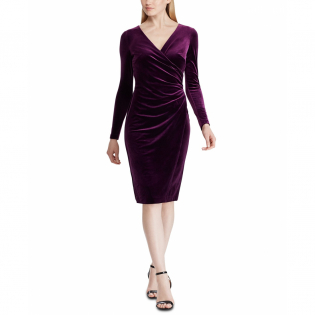 Women's 'Surplice' Long-Sleeved Dress