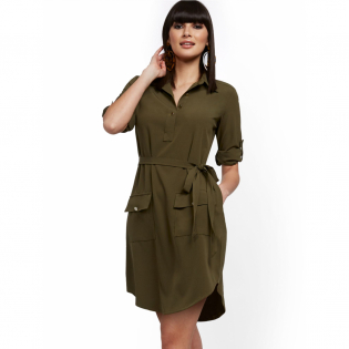 Women's 'Belted Safari' Shirtdress